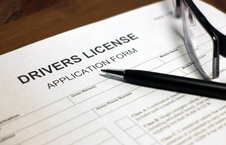 Photo of driver license application