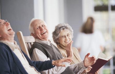 Photo of seniors having a good time